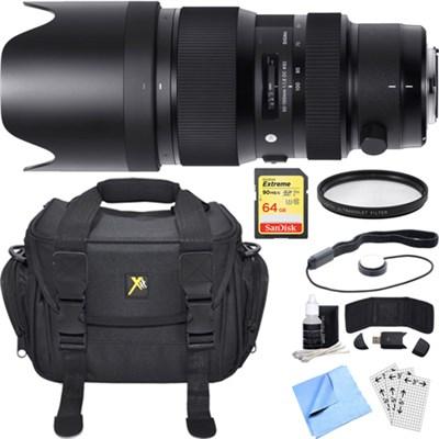 50-100mm f/1.8 DC HSM Lens for Canon Mount Essential Accessory Bundle