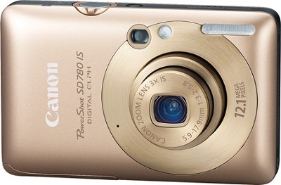 Powershot SD780 IS 12MP Digital ELPH Camera (Gold) - REFURBISHED