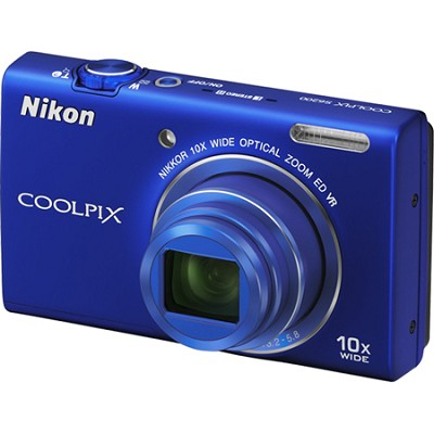 COOLPIX S6200 Blue 10x Zoom 16MP Digital Camera