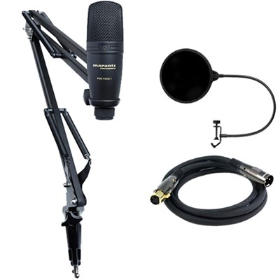 USB Microphone with Broadcast Stand and Cable w/ Filter Bundle