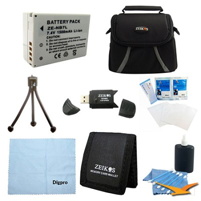 Loaded Value BP-7L Battery Kit for Canon Powershot G12 & SX30
