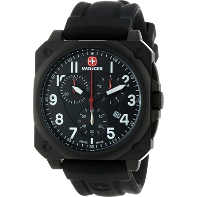 Men's AeroGraph Cockpit Watch - PVD Black Case/Black Dial/Black Rubber Strap