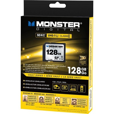 128GB SDXC Full Size SD Memory Card Class 10/UHS-1
