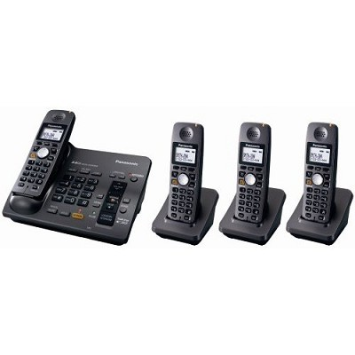 KX-TG6074B 5.8 GHz Cordless Telephone w/Digital Answering machine and 4 Handsets
