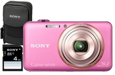 DSC-WX70/P - 16.2MP Exmor R CMOS Full HD Digital Camera 3.0` LCD 5x Zoom (Pink)