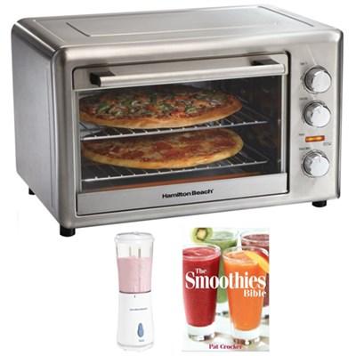 Countertop Oven with Convection & Rotisserie - Silver Plus Bonus Smoothie Bundle