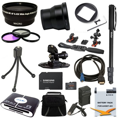 GoPro Helmet Accessory Kit 3 for the Hero 4 , Hero 4+ and all action cameras