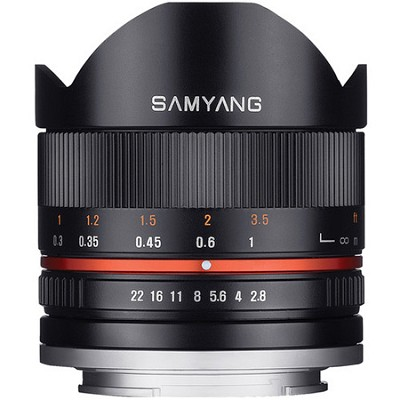 Series II 8mm F2.8 Fisheye Lens for Canon M Mount