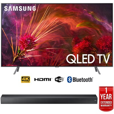 65` Q8FN QLED Smart 4K UHD TV (2018) w/ Premium Soundbar + Warranty Bundle