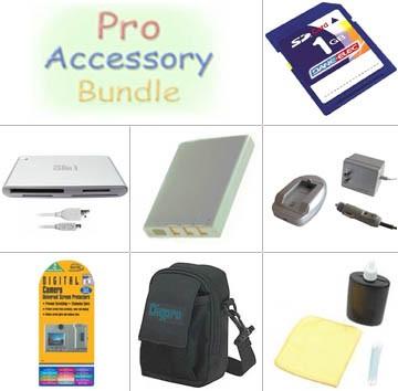 Platinum Accessory Kit for Pentax Optio 750Z / Optio 555