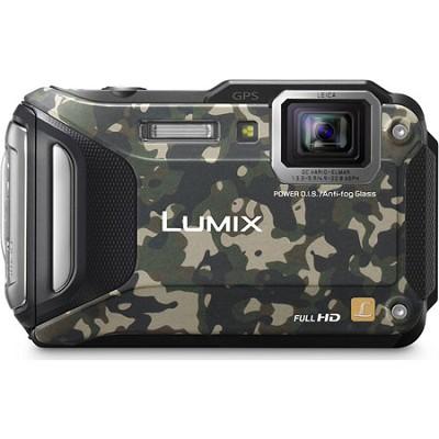 LUMIX DMC-TS6 WiFi Enabled Tough Adventure Camouflage Digital Camera