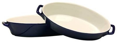 2 Piece Oval Bakeware Set in Black