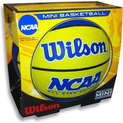 NCAA All Star Edition Mini Rubber Yellow and Blue Basketball