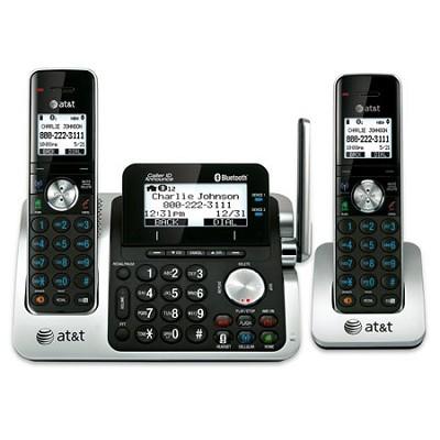 Dect 6.0 2-Handset Link to Cell Landline Telephone System