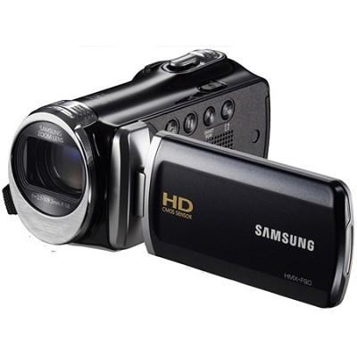 HMX-F90 52X Optimal Zoom HD Camcorder - Black - OPEN BOX