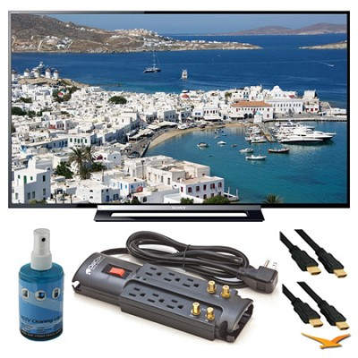 KDL-50R450A 50` 1080p Black LED HDTV Surge Protector Bundle