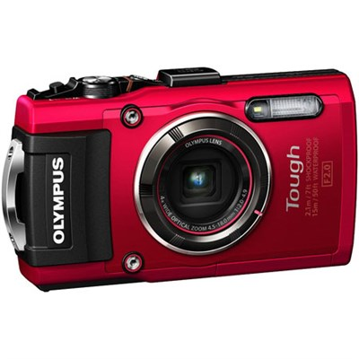 TG-4 16MP 1080p HD Waterproof Digital Camera w/ 3-Inch LCD (Red) Refurbished