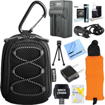 All Weather Sport Camera Case + EN-EL12 Battery & Charger Kit for COOLPIX Camera