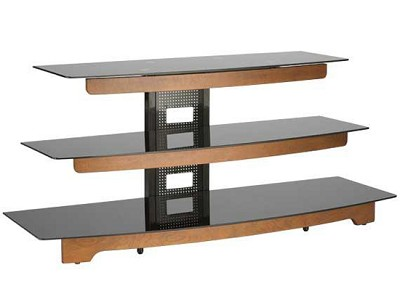 BFAV550 - Waterfall design 3-Shelf A/V Stand for TVs up to 56` (Chestnut)