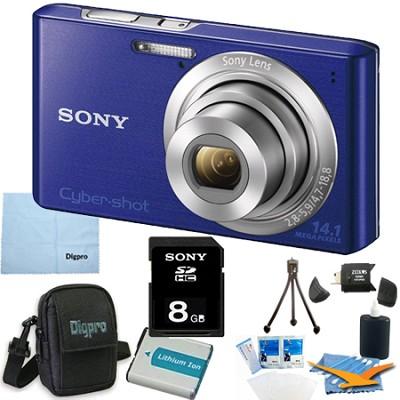 Cyber-shot DSC-W610 Blue 8GB Digital Camera Bundle
