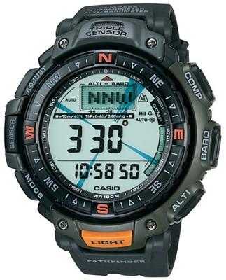 PAG40-3V - G-Shock Green Pathfinder Triple Sensor Watch w/ Resin Band