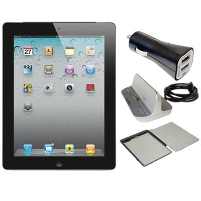 iPad 2 16GB with Wi-Fi - Black (MC769LL/A) Refurbished w/ Power Bundle