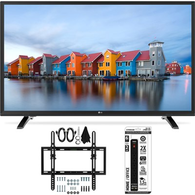 32LH550B 32-Inch 720p HD LED TV w/ Flat + Tilt Wall Mount Bundle