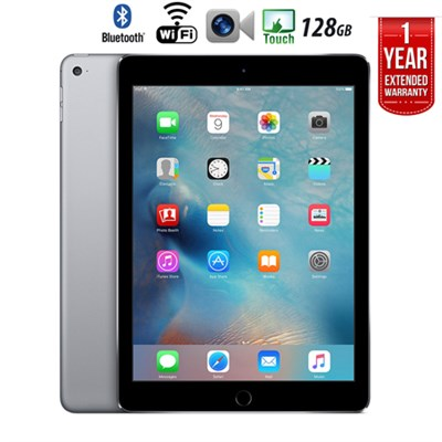 iPad Air 2 128GB Wifi + 1 Year Extended WARRANTY - (Certified Refurbished)