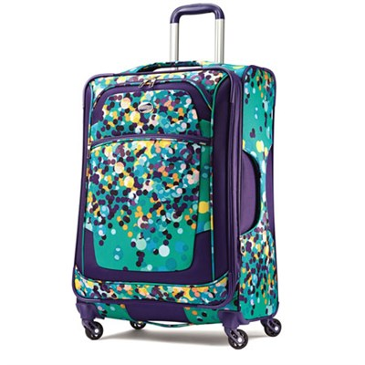 iLite Xtreme Luggage 25` Spinner - Purple Dot - OPEN BOX