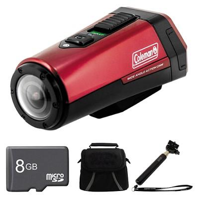 CX9WP-BL AktivSport Red Camcorder 8GB Bundle