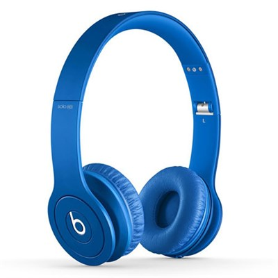 Solo HD On-Ear Headphones with Built-in Mic (Matte Blue) - OPEN BOX