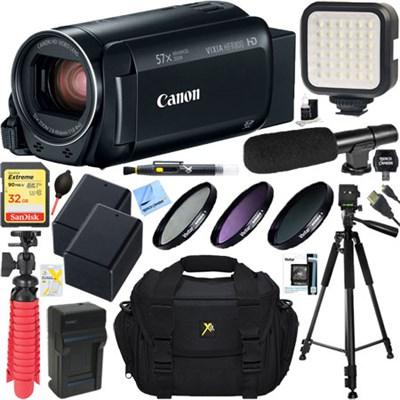 VIXIA HF R800 Camcorder (Black) + 32GB Memory & Deluxe Microphone Bundle
