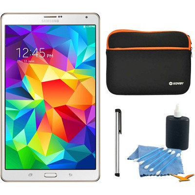 Galaxy Tab S 8.4` Tablet - (16GB, WiFi, Dazzling White) Accessory Bundle