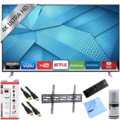 M49-C1 - 49-Inch 4K Ultra HD Smart LED HDTV Tilt Mount & Hook-Up Bundle