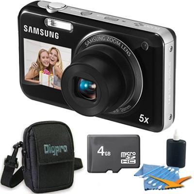 PL120 14MP Dualview Black Digital Camera Bundle