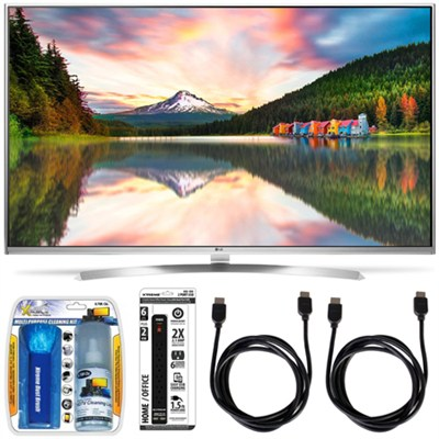 60UH8500 - 60-Inch Super Ultra HD 4K Smart LED TV w/ webOS 3.0 Accessory Bundle