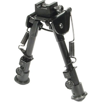 Tactical OP Bipod, Rubber Feet, Center Height 6.1`-7.9` (Black) - TLBP78