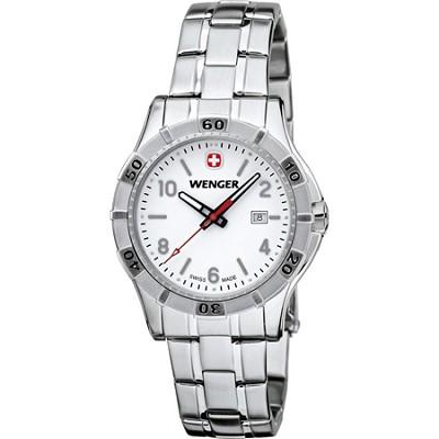 Ladies' Platoon Analog Watch - White Dial/Stainless Steel Bracelet
