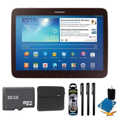 Galaxy Tab 3 (10.1-Inch, Gold-Brown) + 32GB Micro SDHC and More