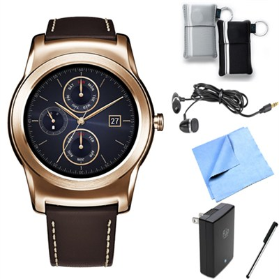 Watch Urbane Android Smartwatch (Gold) Essentials Bundle
