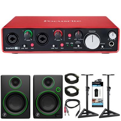 Scarlett 2i4 USB Audio Interface (2nd Gen) + Mackie Speaker Bundle
