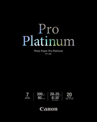 Photo Paper Pro Platinum 8` X 10` - 20 Sheets