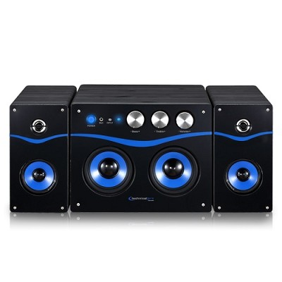 Powered Bluetooth Loudspeaker Black/Blue - BLUET40