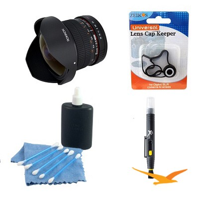 8mm f/3.5 HD Fisheye Lens with Removeable Hood for Nikon DSLR (HD8M-N)