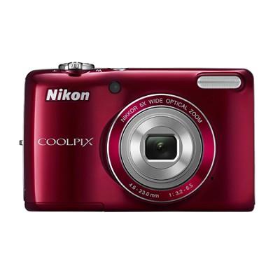 COOLPIX L26 16.1 MP 3.0-inch LCD Digital Camera - Red