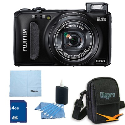 FinePix F660EXR 16MP EXR CMOS Digital Camera 4 GB Bundle (Black)