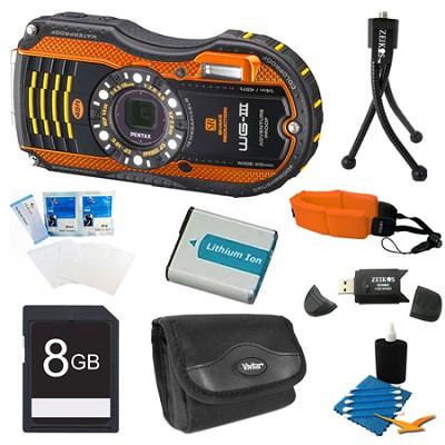 WG-3 Orange Digital Camera 8GB Bundle