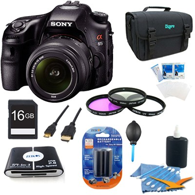 SLTA65VL - a65 Digital SLR Camera 24.3 MP with 18-55mm Zoom Lens Plus Kit