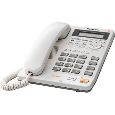 KX-TS620W Integrated Telephone System with All-Digital Answering System, White