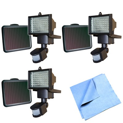 60 LED Solar Motion Light - 82156 3-Pack Bundle